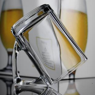 创意玻璃水杯咖啡厅咖啡杯果汁杯啤酒杯柠檬杯个性时尚把手杯