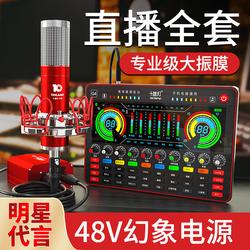 十盏灯 P30专业声卡唱歌手机专用直播设备全套K歌电脑台式电容拉菲娱乐 抖音网红主播套装修音神器话筒通用装备