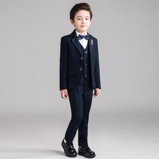 男童礼服套装儿童小西装三件套钢琴演出服花童西服外套2018秋