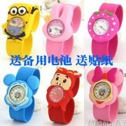 卡通啪啪圈儿童手表女孩玩具小孩兔子粉色拍拍表幼儿手表
