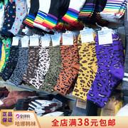 ETNA韩国东大门豹纹女袜中筒堆堆袜洋气网红潮流纯棉袜子