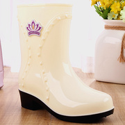 雨鞋女韩国可爱秋冬时尚中筒水靴套鞋防滑水鞋胶鞋成人雨靴A