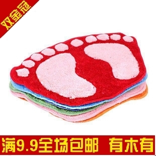 Lovely flocking to cushion feet bath water-absorbent mat door mat door mat carpet foot mats 200g