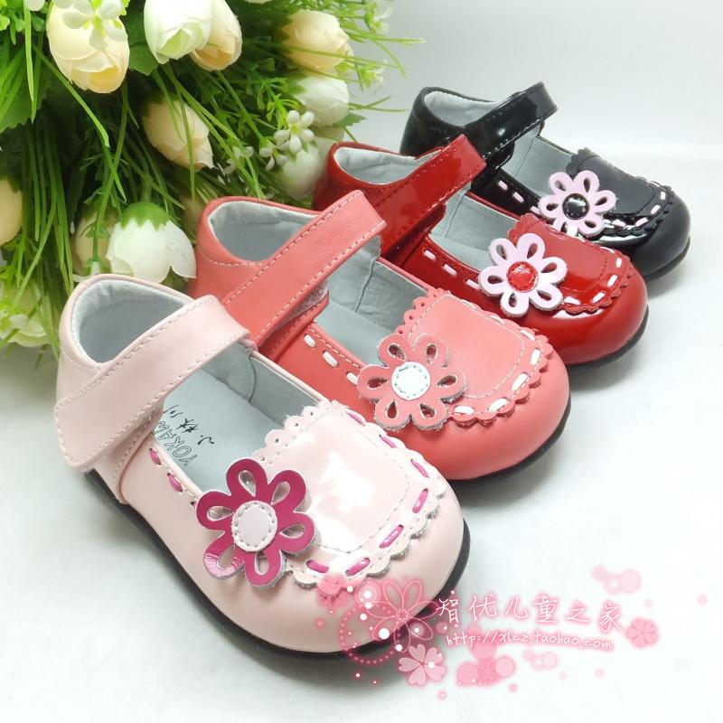 Детская кожаная обувь Small 11208 2012 308 Девушки Кожа быка Пряжка Резина