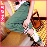Temperament Lady dress summer summer 2012 new easing code Emile verhaeren leisure trousers K887