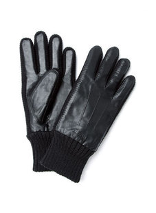 Dream ba Sally/MengDi ella fashionable man mo gloves joining together sheep leather mittens 068711403