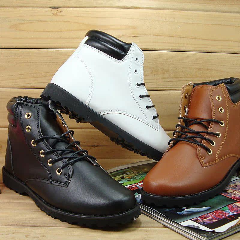 Ботинки мужские High shoes Tide Для отдыха Круглый носок Искусственная кожа Мягкая кожа Весна и осень