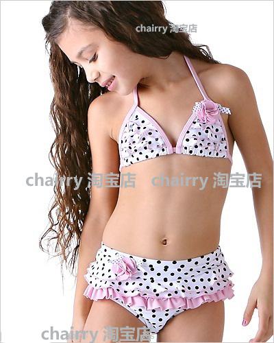 Children's Swimming clothing female child swimsuit bikini ...