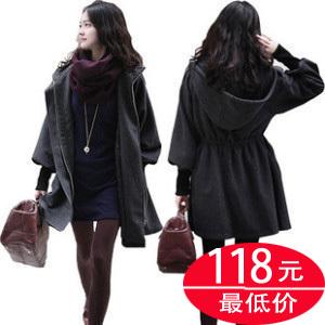 женское пальто mt010 Средней длины (65 см <длины одежды ≤ 80 см) Длинный рукав Объемный рукав