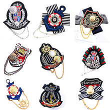 Epaulets Korea Korean Naval Academy Wind wind anchor badge badge jewelry wholesale lace brooch medal