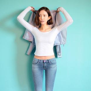 春装大码女装2014长袖t恤女款纯棉打底衫t恤女上衣服