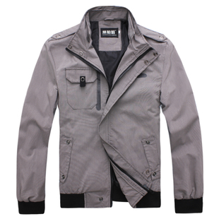 2012  new spring clothing man jacket coat small grid leisure men's clothing jacket