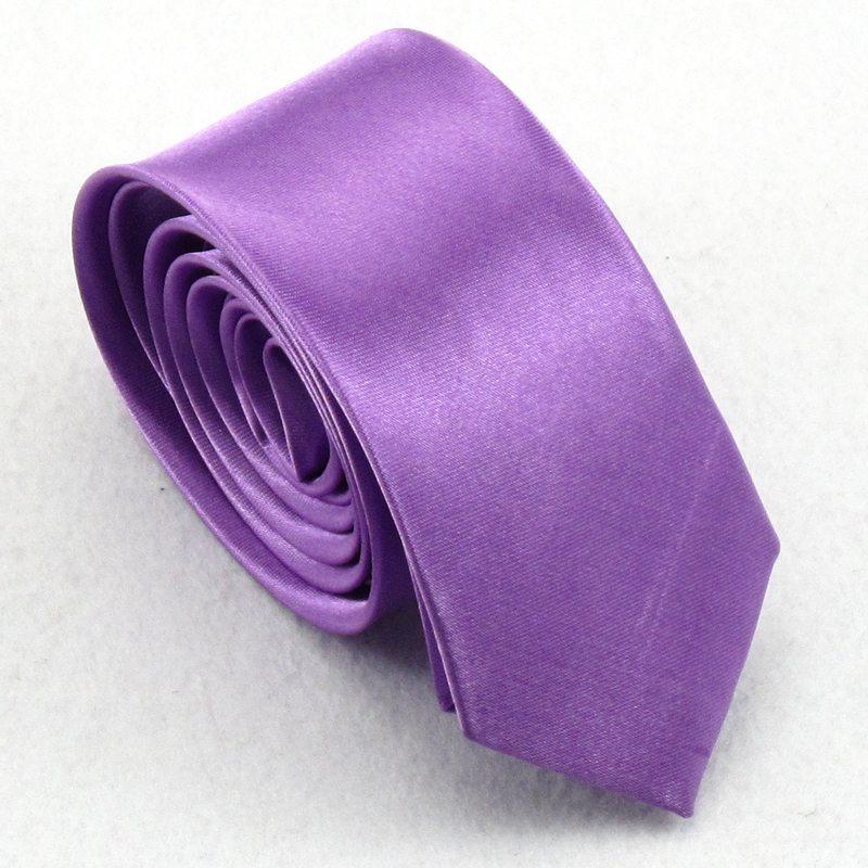 Стреловидный галстук Ультра- узкие ( 7 см) Однотонный цвет Для отдыха