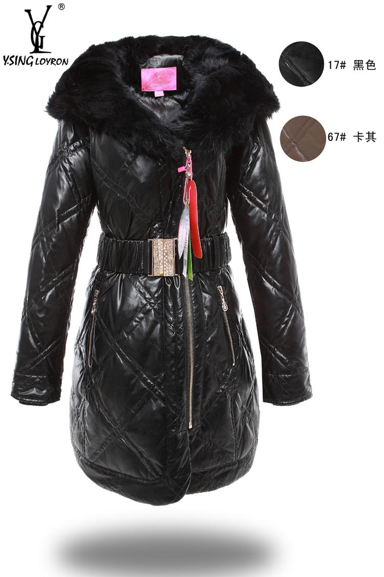 Женский пуховик Yves Saint Laurent 11026 YR11026 Зима 2011 Разные материалы Городской стиль Облегающий покрой