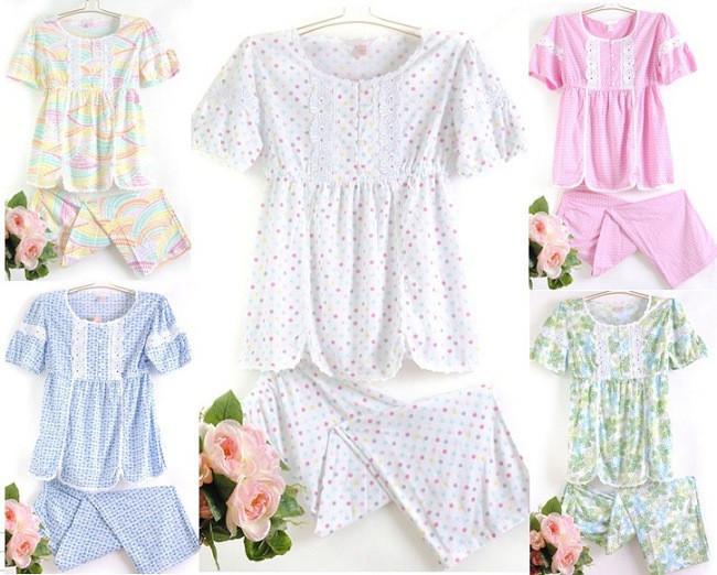 Пижама Victoria Select +7 Хлопковый трикотаж Однотонный цвет Для отдыха дома Девушки