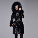 2013 Winter Royal Cat long Section Thick Glossy Fur Collar Down Jacket Big End-Of-Season Deals