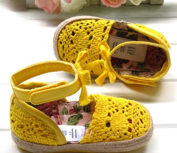 Детские ботинки с нескользящей подошвой GAP Q129 Девушки 100 хлопковая ткань Липучка Лето Ажурная отделка % Однотонный цвет