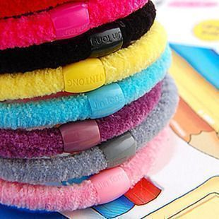 Three golden delicious candy color Korea high elastic rope rings hair accessories made by  head rope Pijin 3G
