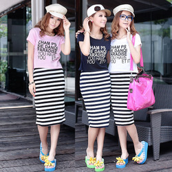 Cool korean style set female style track suit skirts