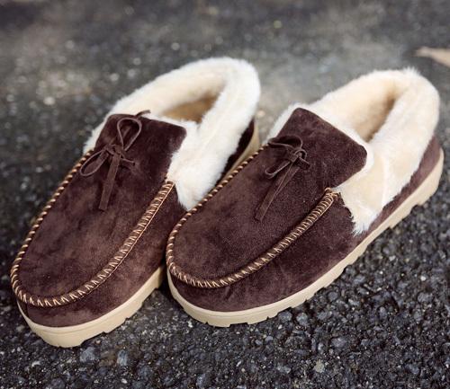 Демисезонные ботинки Зимние мальчики Корейский корейских мужчин низкая обувь Обувь корейские зимние теплые мужская обувь Мужская повседневная обувь Для отдыха Искусственная кожа Квадратный носок Без шнуровки Зима