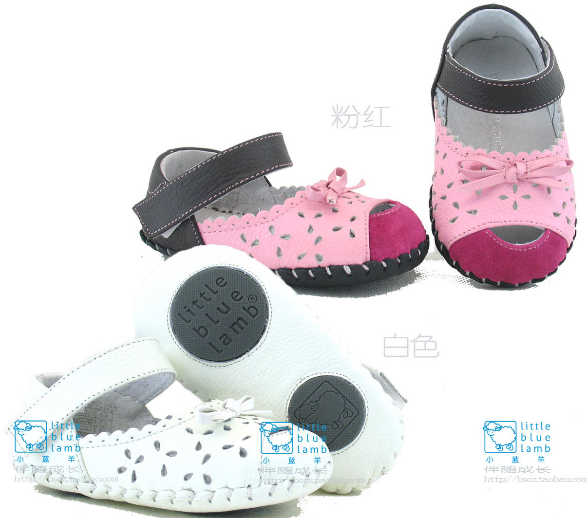Детские ботинки с нескользящей подошвой Small blue sheep B31004 12 115-135 Девушки Кожа быка Резинка Лето