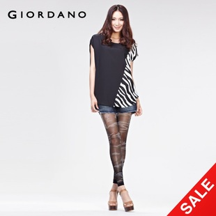 Giordano ladies ' stretch Zebra sheath 2012 Summer tights 95,490,097