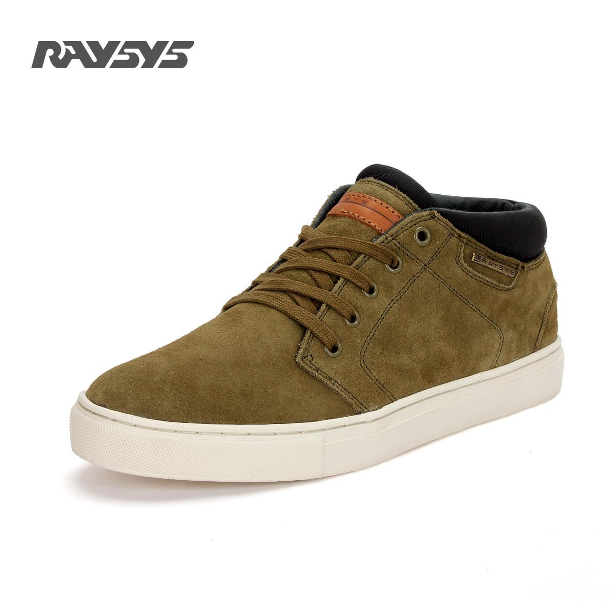 Демисезонные ботинки Raysys 18075 Обувь на тонкой подошве ( для скейтборда ) Для отдыха Двухслойная натуральная кожа Круглый носок Шнурок Зима