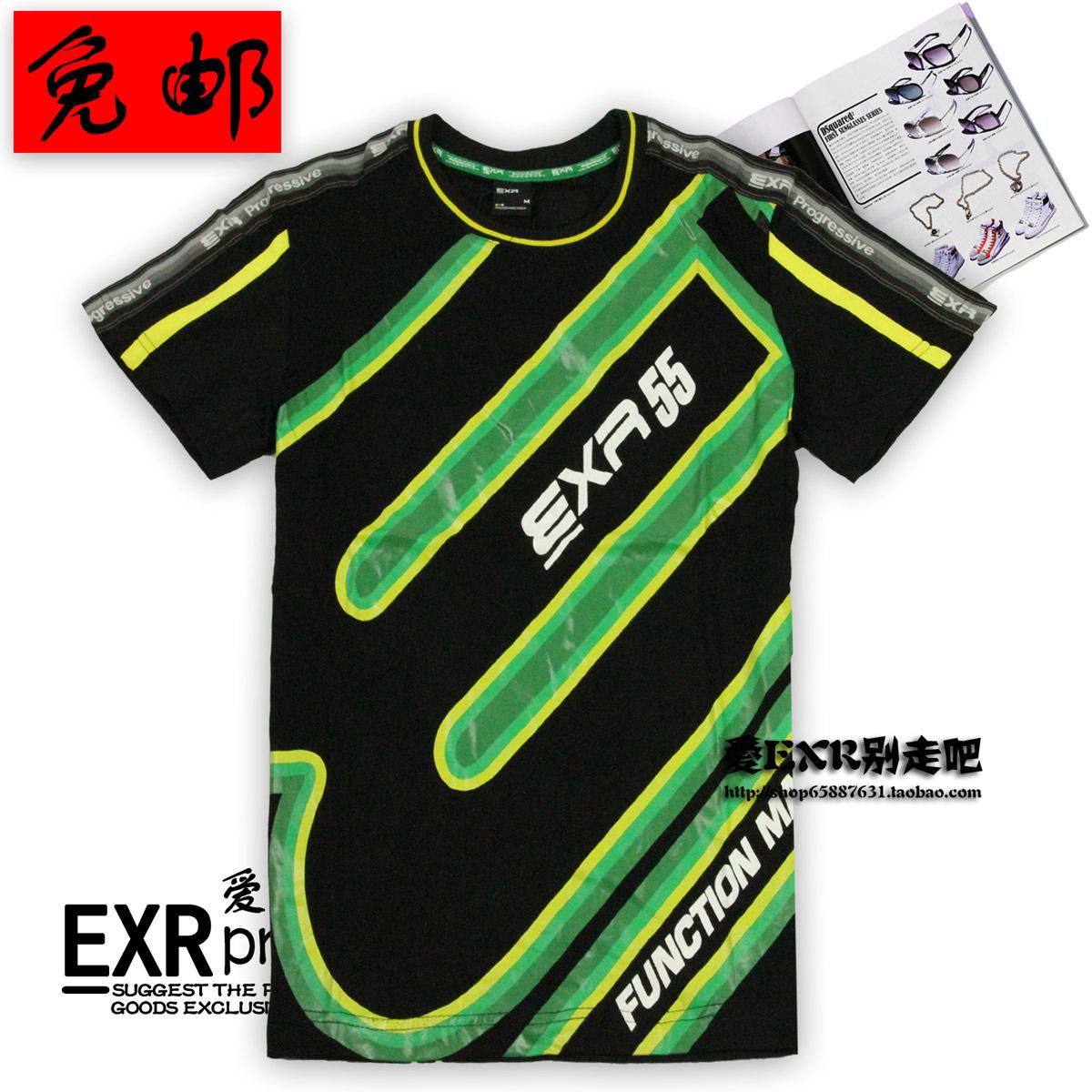 Спортивная футболка EXR 159 159A Стандартный Воротник-стойка Короткие рукава ( ≧35cm ) Полиэстер Спорт и отдых Влагопоглощающая функция, Защита от UV, Быстросохнущие, Ультралегкий, Воздухопроницаемые Эмблемы, Линейная, С логотипом бренда, Дизайн, С надписями