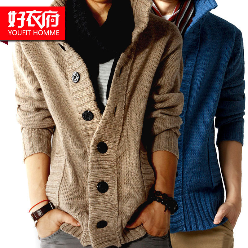 Свитер мужской Good clothes House zm013 кардиган утеплённая модель весна-осень комбинированное волокно - натуральная шерсть и синтетика 2012