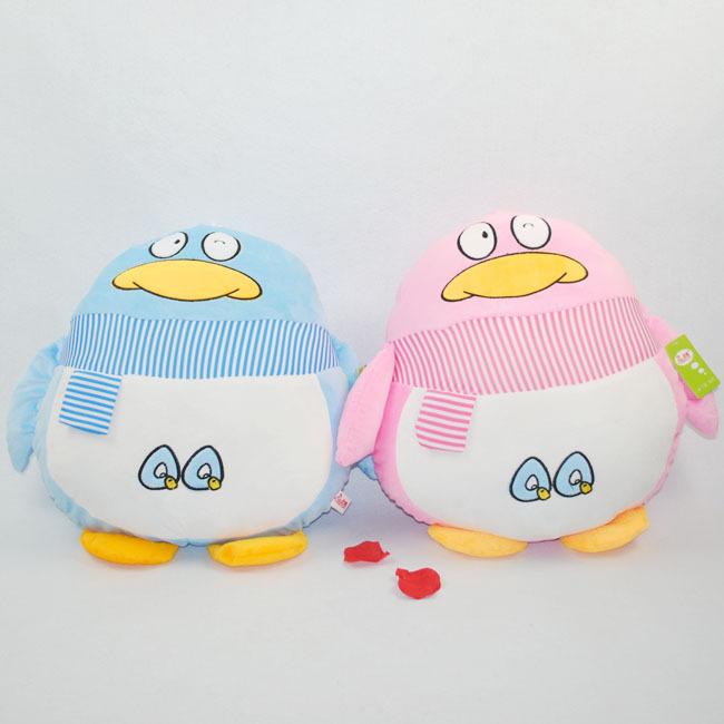 超可爱QQ抱枕公仔 情侣企鹅靠垫靠枕 卡通毛绒玩具 情人节日礼物