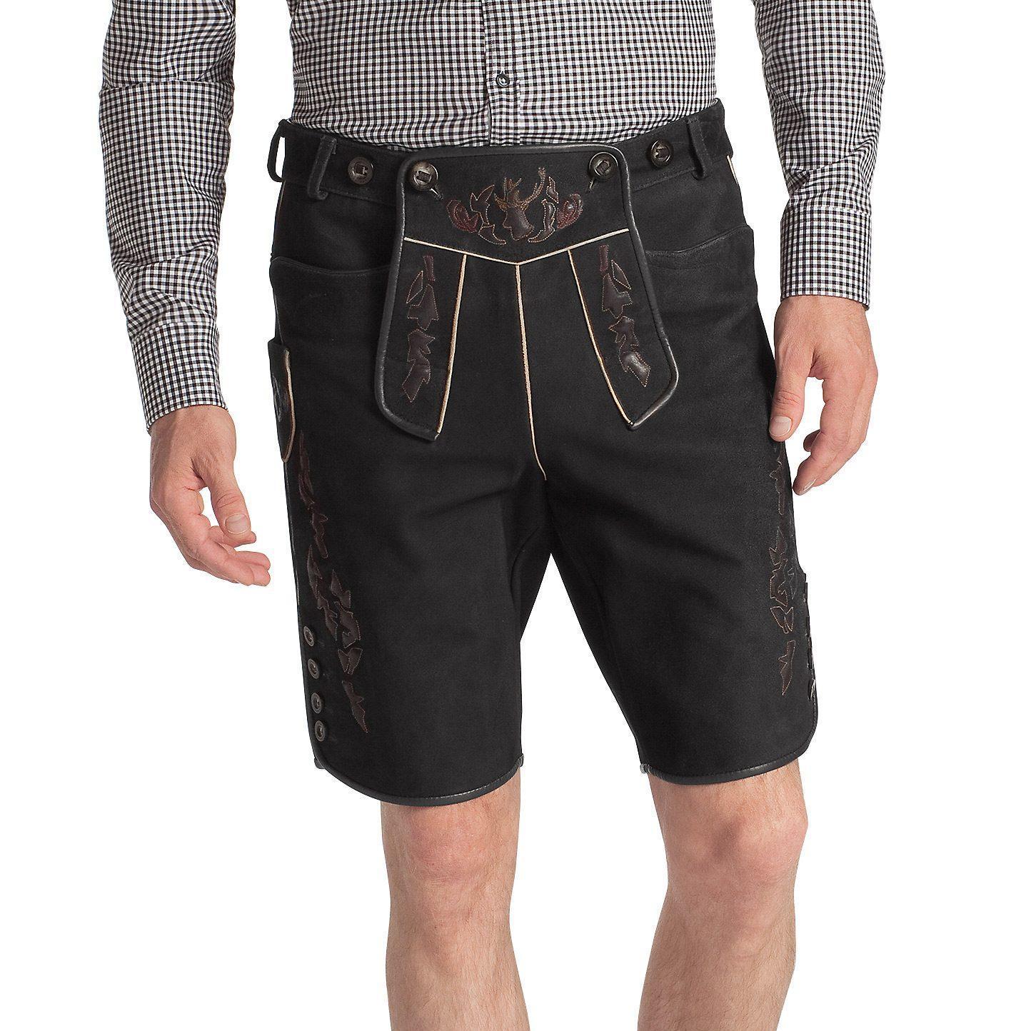 Кожаные брюки Hugo Boss 50228207_001 Овечья кожа Осень Европейский и американский стили