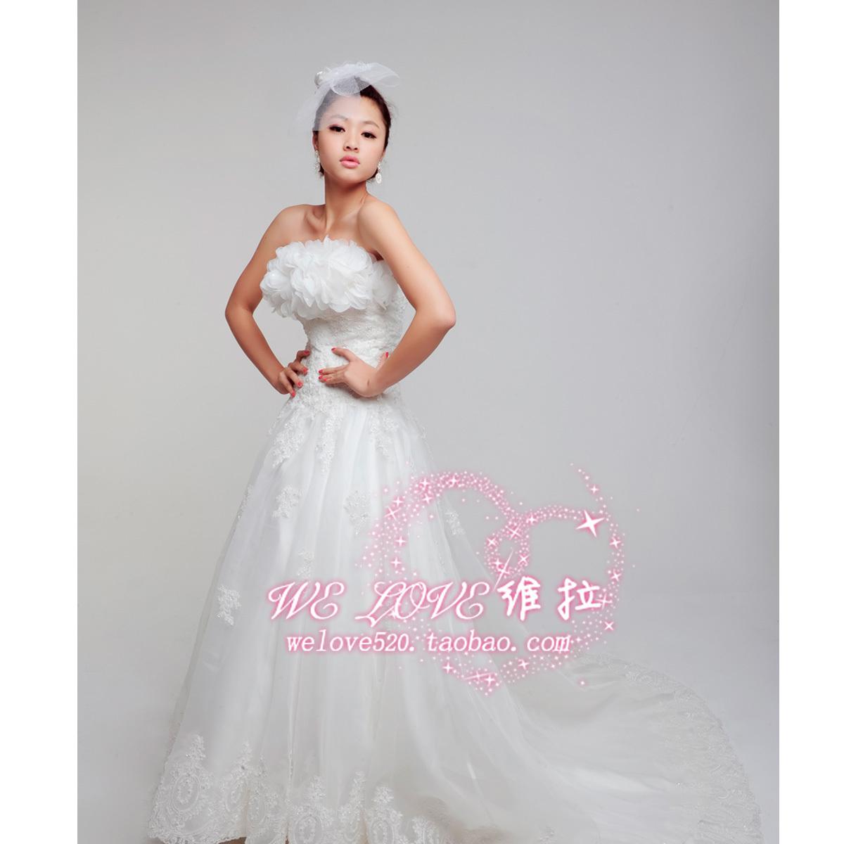 Свадебное платье WELOVE 2011 Плотная ткань Длинный шлейф
