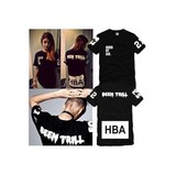 男女Hood By Air HBA X Been Trill Kanye West 陈冠希tee短袖T恤