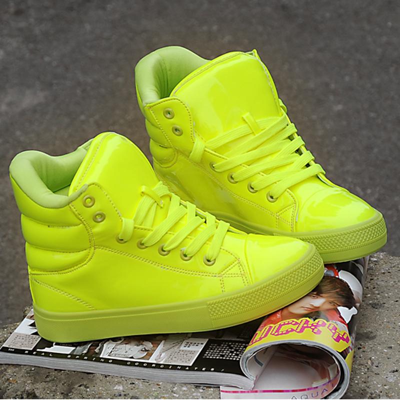 Круглый носок Платформа Шнурок Средний каблук (3 -5 см) Клееная обувь Шнуровка, Соединение разных цветов, Танкетка, Платформа Однотонный цвет