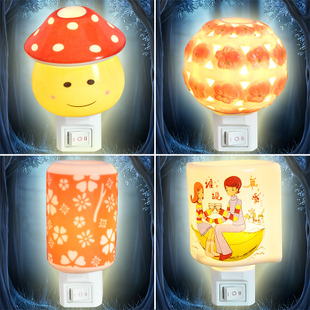 Three golden delicious warm cartoon fashion ceramic insert small night lamp to creative night light bedside lamp 150g