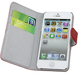 Leather family Apple iphone5 protective sleeve open money card holder the leather holster cellphone sets about