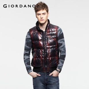 2012 Giordano lattice rib collar down coat men's warm winter vest (boyfriend) 01071597