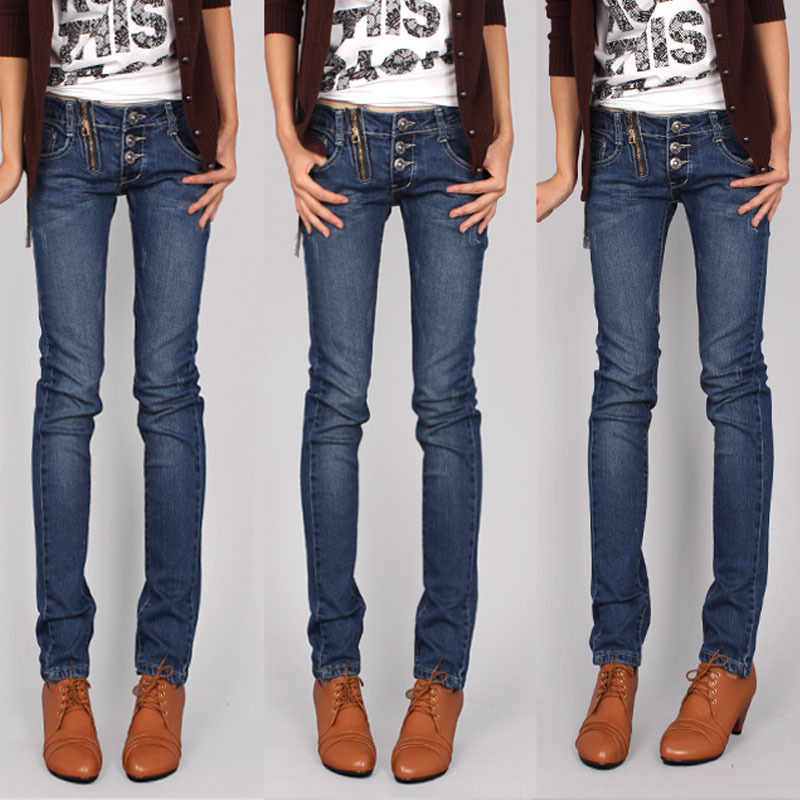 Джинсы женские Плюс размер растянуть скинни джинсы карандаш брюки ноги брюки 2011 новый стиль женщины сапоги брюки брюки брюки Корейский волны