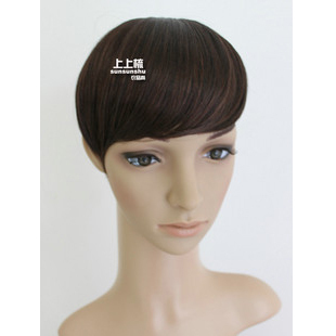Comb wig fake fringe/stream sea short oblique fringe wigs female fringe hair