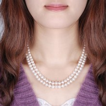 Tao COINS @ spring song series authentic 8-9 mm nearly circular light natural pearl necklace sweater chain 4 color