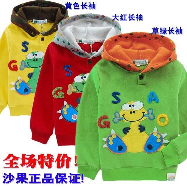 Толстовка детская Other Japanese brands 2011 SG7717 Унисекс Весна-осень Однотонный цвет Без застёжки Фланель