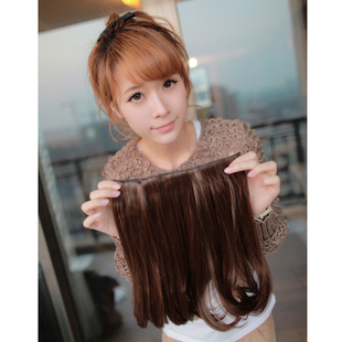 Micro-curly hair wig long style wig comb curly hair flower head pieces