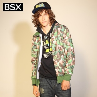 2012 Giordano BSXT shirts men's 3D camouflage chest guardian of  CAP MINI CHE printing even coat of 04081751