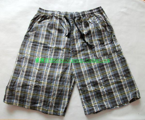 Пижамные штаны Really want you Для молодых мужчин Тканое полотно с подкладкой из хлопка Хлопок В клетку Простой (повседневный) стиль Лето
