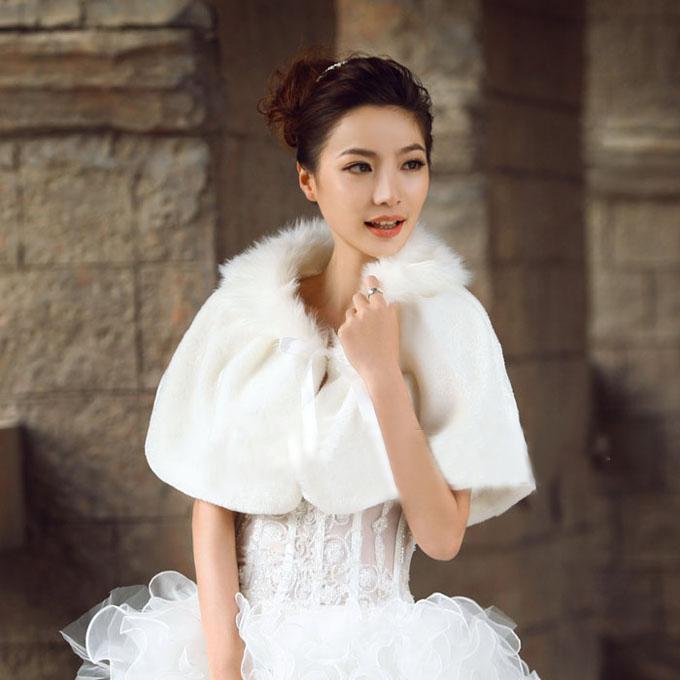 特价毛披肩结婚季 新娘披肩 白色斗篷披肩 外套 婚纱披肩礼服披肩 保暖