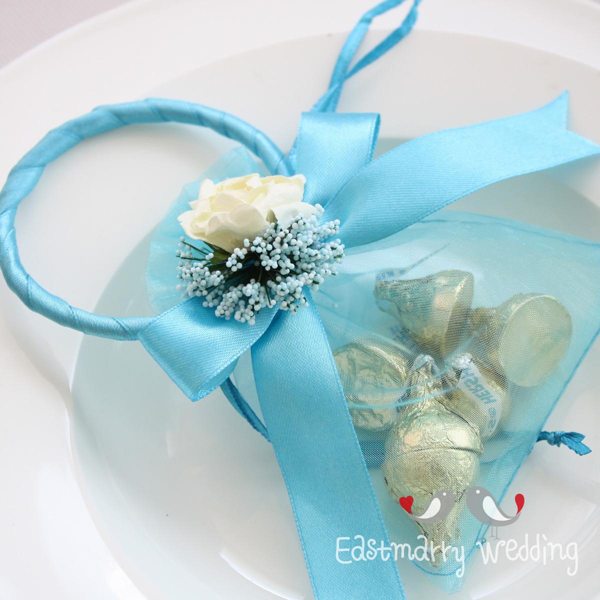 东方新娘中号糖袋纱袋 婚庆喜糖盒 创意 好时 费列罗 天使环