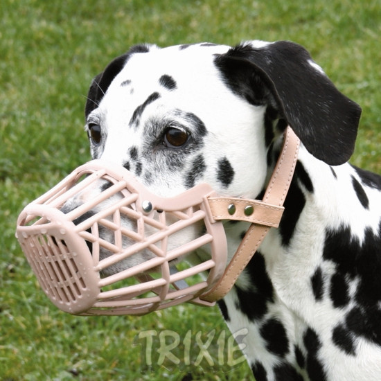 Special plastic mouth covering the grid-ventilation dog muzzle dog mask in several models optional 50 Web-mail