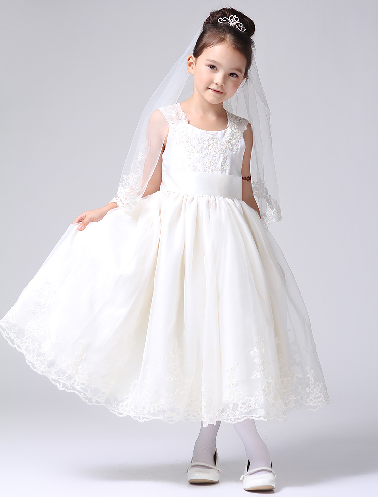 Children dresses european girls lace flower fairy skirt for Wedding dresses for child