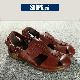 3,465 ★ shop Shop6, 6th men's 2012 new Western leather casual sandals