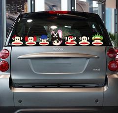 大嘴猴车贴smart众泰甲壳虫MINI汽车贴纸电动车装饰拉花车尾后窗